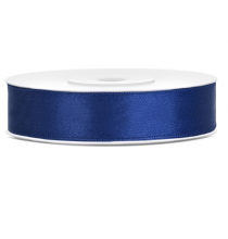 Ruban 12mm Satin Bleu Marine 25m