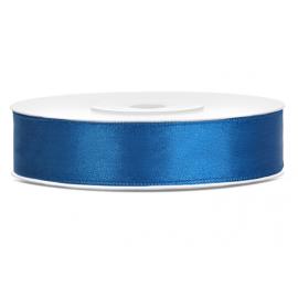 Ruban 12mm Satin Bleu Foncé 25m
