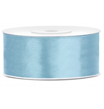 Ruban 25mm Satin Bleu Pastel 25m