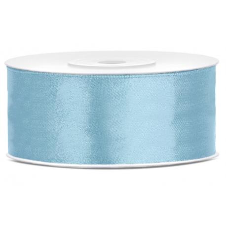 Ruban 25mm Satin Bleu Pastel 25m