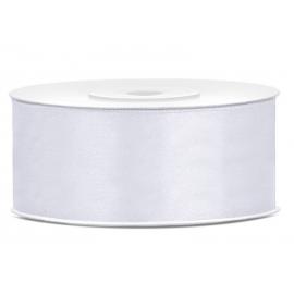 Bobine Ruban Large Satin Blanc 25mm