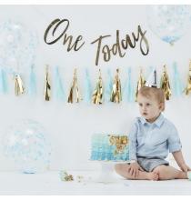 Kit Photobooth Smash the cake - Premier Anniversaire Prince Bleu Doré