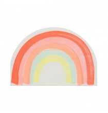 20 Serviettes Forme Arc-en-ciel Flashy Premium Collection Rainbow Party
