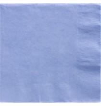 50 grandes serviettes en Papier Bleu lavande