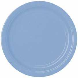 20 Petites Assiettes Jetables en Papier Bleu Lavande