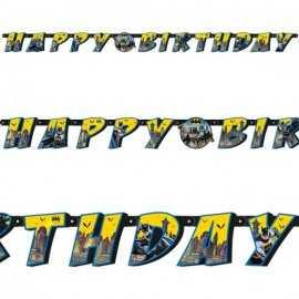 Banderole Happy Birthday Batman - Anniversaire à thème super héros