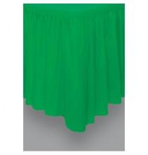 Jupe de Table Plastique Vert Foncé Lavable