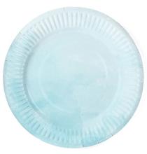 Petites assiettes aquarelle - Bleu Pastel