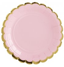 Petites Assiettes Rose Pastel & Doré - Candy Party