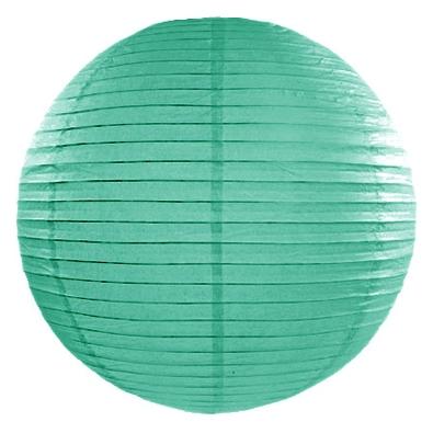 Lot de 2 Très Grandes Boules de Papier Vert d'eau Lanterne 45 cm