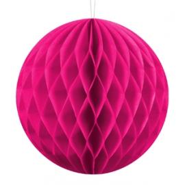 Mini Boule Alvéolée Papier Rose Fushia 10cm à l'unité