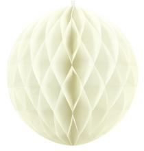 Mini Boule Alvéolée Papier Crème Ivoire 10cm à l'unité