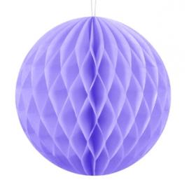 Mini boule alvéolée parme lilas - Décoration de fête