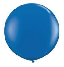 Grand ballon XXL Rond Premium bleu 100cm - à l'unité