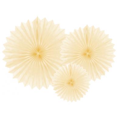 Papier De Riz Décoration rosaces en papier ivoire beige crème