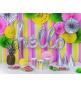 3 Rosaces Holographiques Gris Effet Ultra Brillant