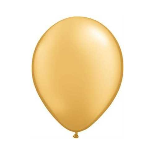 100 Mini Ballons Latex Dorés Nacrés Fête - 5 pouces 12cm