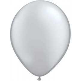 100 Mini Ballons Latex Argent Fête - 5 pouces 12cm