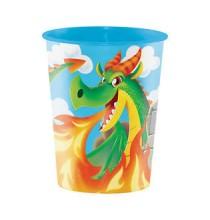 Maxi Gobelet XL Souvenir Plastique Anniversaire Chevalier et Dragons
