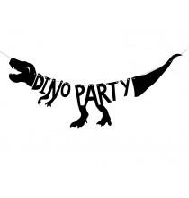 Banderole Dino Party à Fanions Dinosaure Tyrannosaure Anniversaire Décoration
