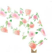 Nappe en plastique Motifs Liberty Fleurs Roses Vintage