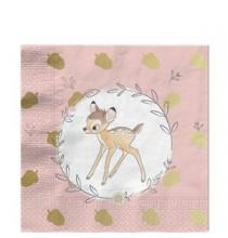 Grandes Serviettes Fête Thème Bambi - Disney Vintage Collection Premium