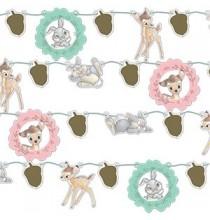Banderole à Fanions Fête Thème Bambi - Disney Vintage Collection Premium