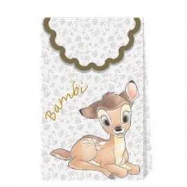6 Boîtes Cadeaux Invités Premium Thème Bambi - Disney Vintage Collection Premium