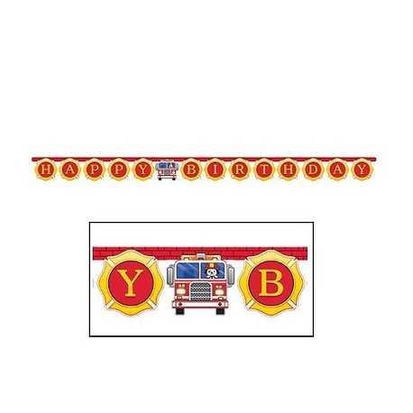 Banderole à fanions Anniversaire Pompier