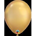 8 Ballons Gonflables Latex Doré Fête