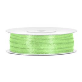 Ruban Vert Pistache Fin 3mm satin en bobine