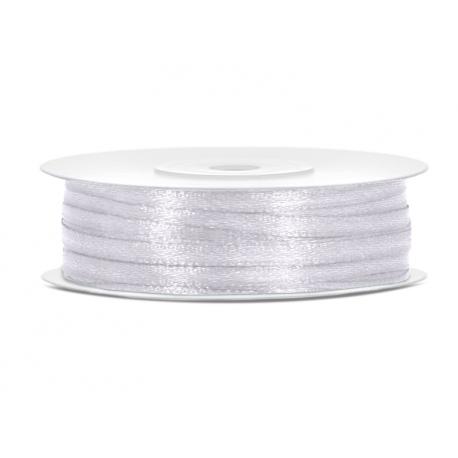 Ruban Satin Blanc Fin 3mm