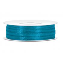 Ruban Satin Bleu Turquoise Fin 3mm largeur 25m