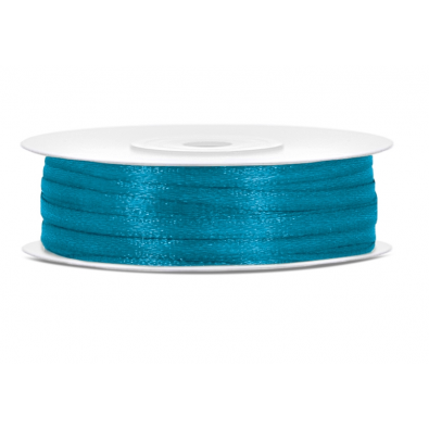 Ruban Satin Bleu Turquoise Fin 3mm largeur 50m