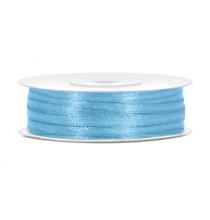 Ruban 3mm Satin Bleu Clair 50mètres