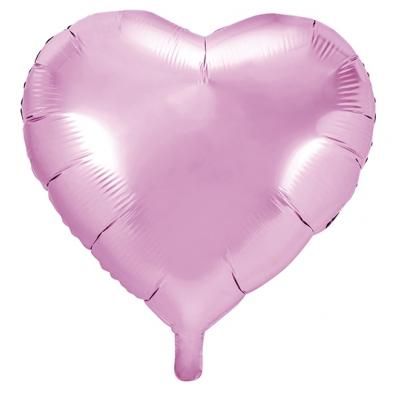 Ballon Coeur Rose Clair