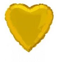 Ballon Coeur Doré Or