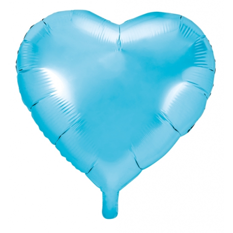Ballon Coeur Bleu Clair