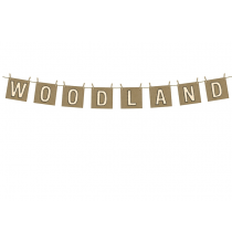 Guirlande à Fanions Woodland - Anniversaire Rusé comme un renard