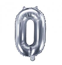 Ballon 35cm Alu Argent Chiffre Zéro Fête d'Anniversaire enfant