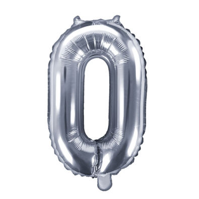 Ballon 35cm Chiffre Numero Zero 0 Argent Pour Feter Un Anniversaire