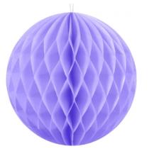 Boule alvéolée parme lilas 30cm - Décoration de fête