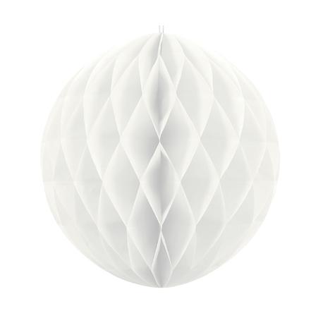 Grande Boule Papier Alvéolé Blanc 30cm à l'unité