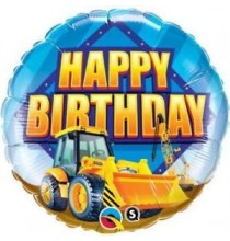 Ballon Rond Hélium Anniversaire Camion de Chantier