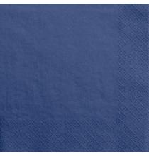 Grandes Serviettes Papier Bleu Marine Vaisselle Jetable de Fête