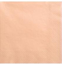 Grandes Serviettes Papier Pêche Orange Pastel Vaisselle Jetable de Fête