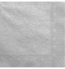 Grandes Serviettes Papier Argenté Vaisselle Jetable de Fête