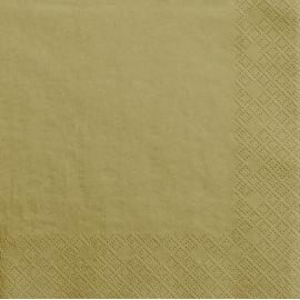 Grandes Serviettes Papier Doré Vaisselle Jetable de Fête