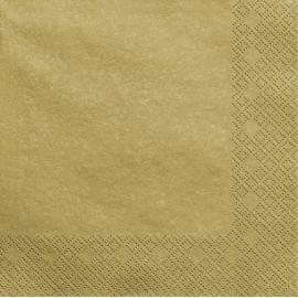 Grandes Serviettes Papier Doré Brillant Vaisselle Jetable de Fête