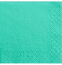 Grandes Serviettes Papier Vert d'eau Mint Vaisselle Jetable de Fête